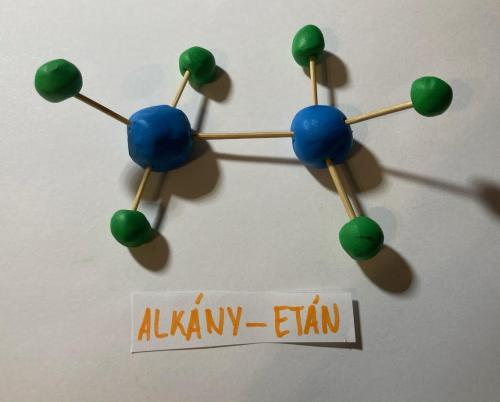 Molekuly alkány - etán