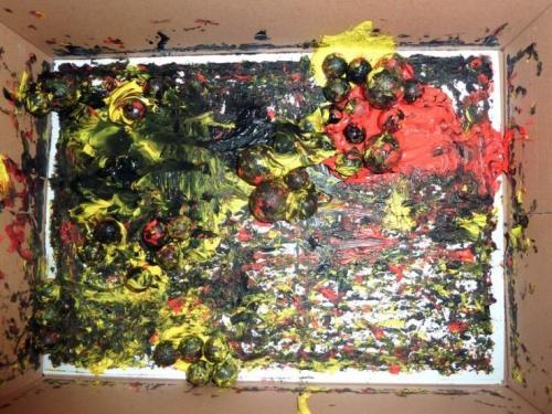 Výtvarná výchova v 4.A - guličková technika, 19.3.2013